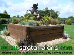 Railway Sleepers Garden Feature